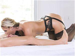 milf sex industry star Phoenix Marie wedged deep in her jiggly pussylips