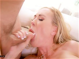 rammed - Brandi love gets face romped by two large pricks