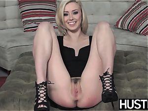 Irresistible Haley Reed blowbanged before sloppy facial