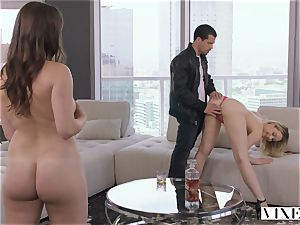 VIXEN naughty assistant Can't Hold Back Anymore In extraordinaire threesome