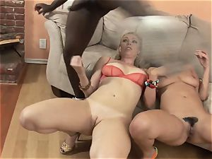 Charley chase and Adrianna Nicole engulfs this huge fuck-stick