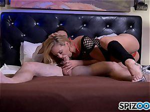 man-meat globbering platinum-blonde mummy Cherie Deville
