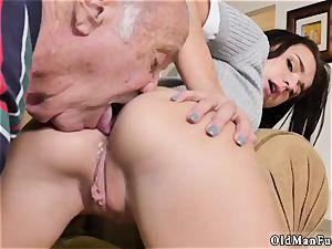old grandfather jizm shot woman internal cumshot riding the older sausage!