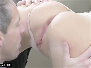 Kira takes 2 meatpipes in her fuck holes in this glam pummel