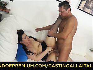 casting ALLA ITALIANA dark haired nymphomaniac raunchy anal fucky-fucky