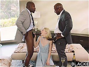BLACKED subordinated gf disciplined by 2 ebony boys