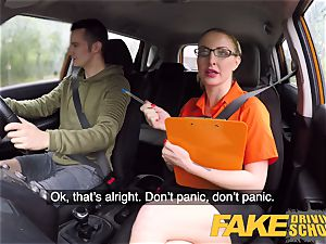 faux Driving college examination failure leads to super-fucking-hot hump