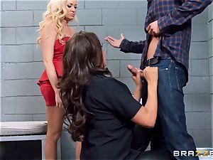 Bad cop Ava Koxxx steals Summer Brielles man