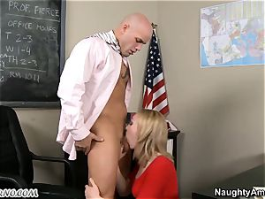 ultra-cute youthfull student takes her teacher's penis in the classroom