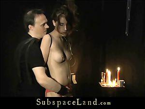 crimson underwear sadism & masochism slave nubile gets disciplined and slapping