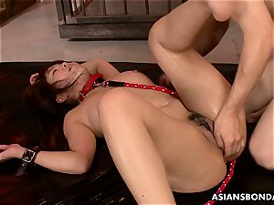 chinese sweetie receives a harsh slit and bum boning