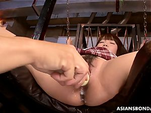 japanese schoolgirl has her dumping bush perversely played