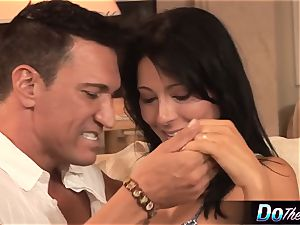 white wife takes white fuckpole in front of dark-hued husband