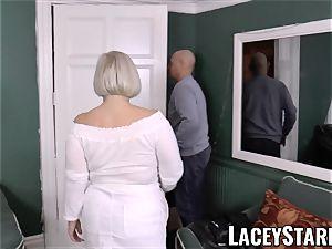 LACEYSTARR - huge-boobed GILF negotiates a excellent vagina deal