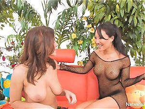 Natasha Nice's very first anal experience with Asa Akira