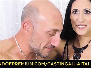 audition ALLA ITALIANA - muddy newbie ass-fuck casting