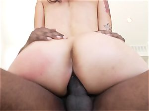 Dana Vespoli takes this firm pink cigar deep in her taut butt