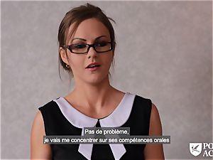 porno ACADEMIE - brit Tina Kay steaming ass-fuck in threeway