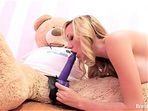Brett Rossi plays with a rammed bear's strap-on fake penis