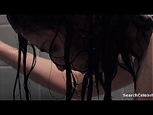celebrity Sarah Silverman flaunting her bra-stuffers