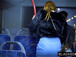 BLACKEDRAW two cuties drill phat big black cock On Bus!
