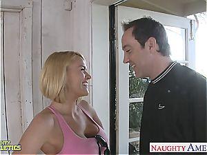platinum-blonde cutie Krissy Lynn gets her tight vagina jammed