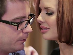 Mean mummy Veronica Avluv penetrates her daughter's guy