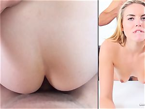 Keira Nicole flashes her talents at her audition