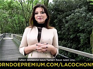 LA COCHONNE - jizm in facehole and double penetration for Anna Polina