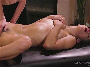 Abella Danger and Haley Reed scissor romp makes them orgasm