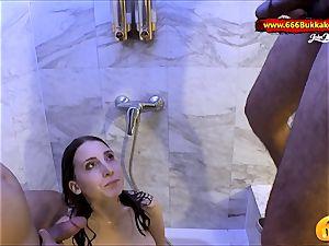 supah super hot unexperienced babe Lia-Louise piss bath 666Bukkake