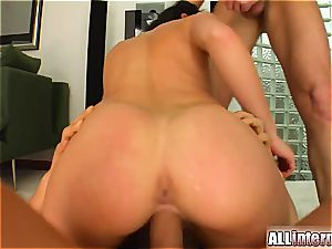Aletta Ocean nailed by two super-naughty studs
