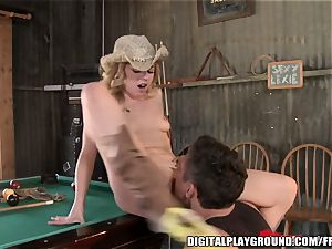 Bar breezy with an horny ass plumbs the owners son on webcam
