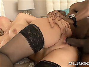 MILFGonzo large tit Julia Ann cheats with a massive black lollipop