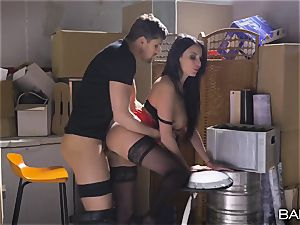 huge congenital jugs Frenchwoman gets nailed in the basement