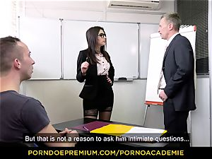 porn ACADEMIE - teacher Valentina Nappi MMF threeway