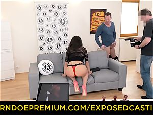 unveiled casting - spectacular brown-haired has hardcore anal invasion hump
