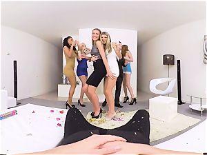 VR porno- gang smash MERRY XXX-MAS AND ONE dick PART 2