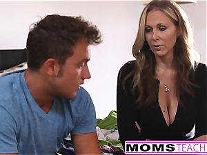 milf Julia Ann threesome With Step-Son
