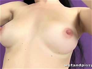 nice raven haried honey urinating in solo sequence