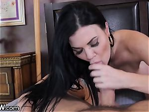 huge parent manmeat cum shot huge breast English cougar Jasmine Jae