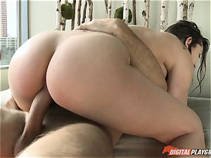 magnificent dark haired Dani Daniels poked in the douche