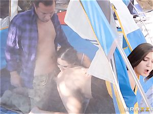 cumswapping camping bombshells Karlee Grey and Jojo smooch