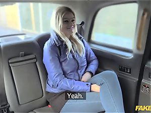 faux taxi blond gets backseat discount