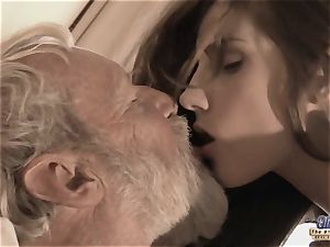 Therapy with aged dick for a sick nubile doll