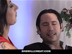 SheWillCheat - hoe wife bum pulverized by pal
