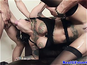 hot dolls want to be decorated in cum after bukkake fun