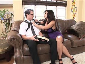 gigantic breasted babe Lisa Ann bags herself a toyboy