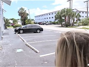 Picking up Bailey Brooks and slamming hard schlong in her coochie in public