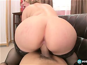 Brandi Sparks, massive ass phat ass white girl, curvaceous Gettig romped